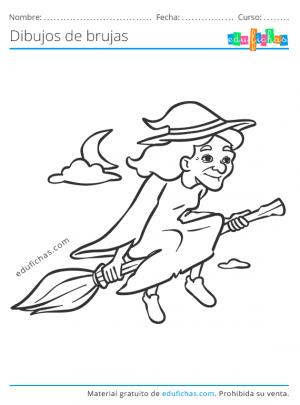 dibujos de brujas con escoba