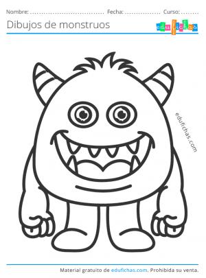 dibujo de un monstruo