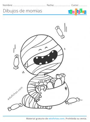 dibujo de momia infantil