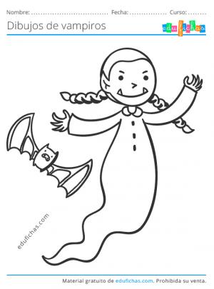 dibujo de una vampira niña