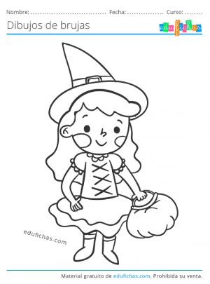 dibujos de brujas para imprimir