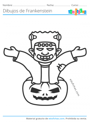 dibujos de frankenstein gratis
