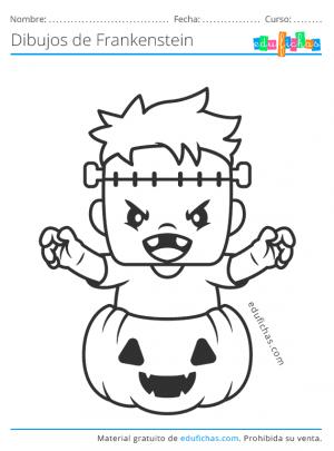dibujos del monstruo de halloween