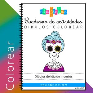 dibujos del dia de muertos para colorear