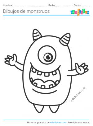 dibujos divertidos de monstruos