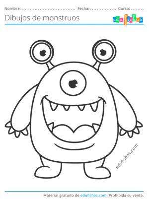 dibujos infantiles de monstruos