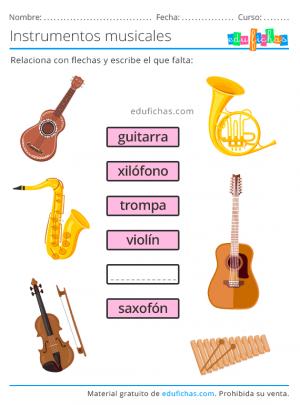 ejercicios de instrumentos musicales