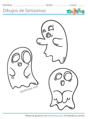 fantasmas para colorear