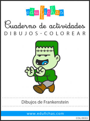 frankenstein para colorear pdf