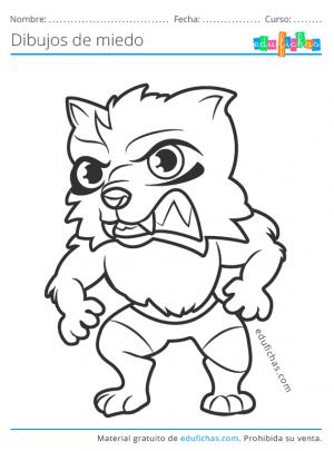 hombre lobo de miedo