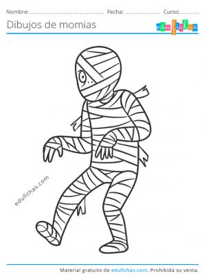 imagenes de momias para colorear