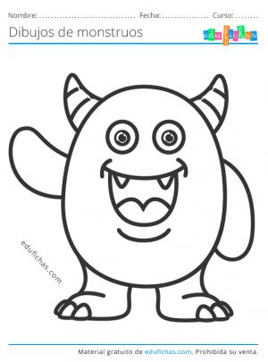 imágenes de monstruos para imprimir