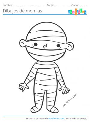 imprimir dibujos de momias