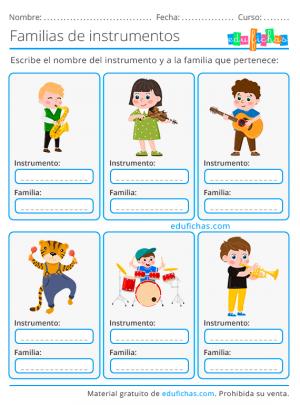 instrumentos musicales para primaria