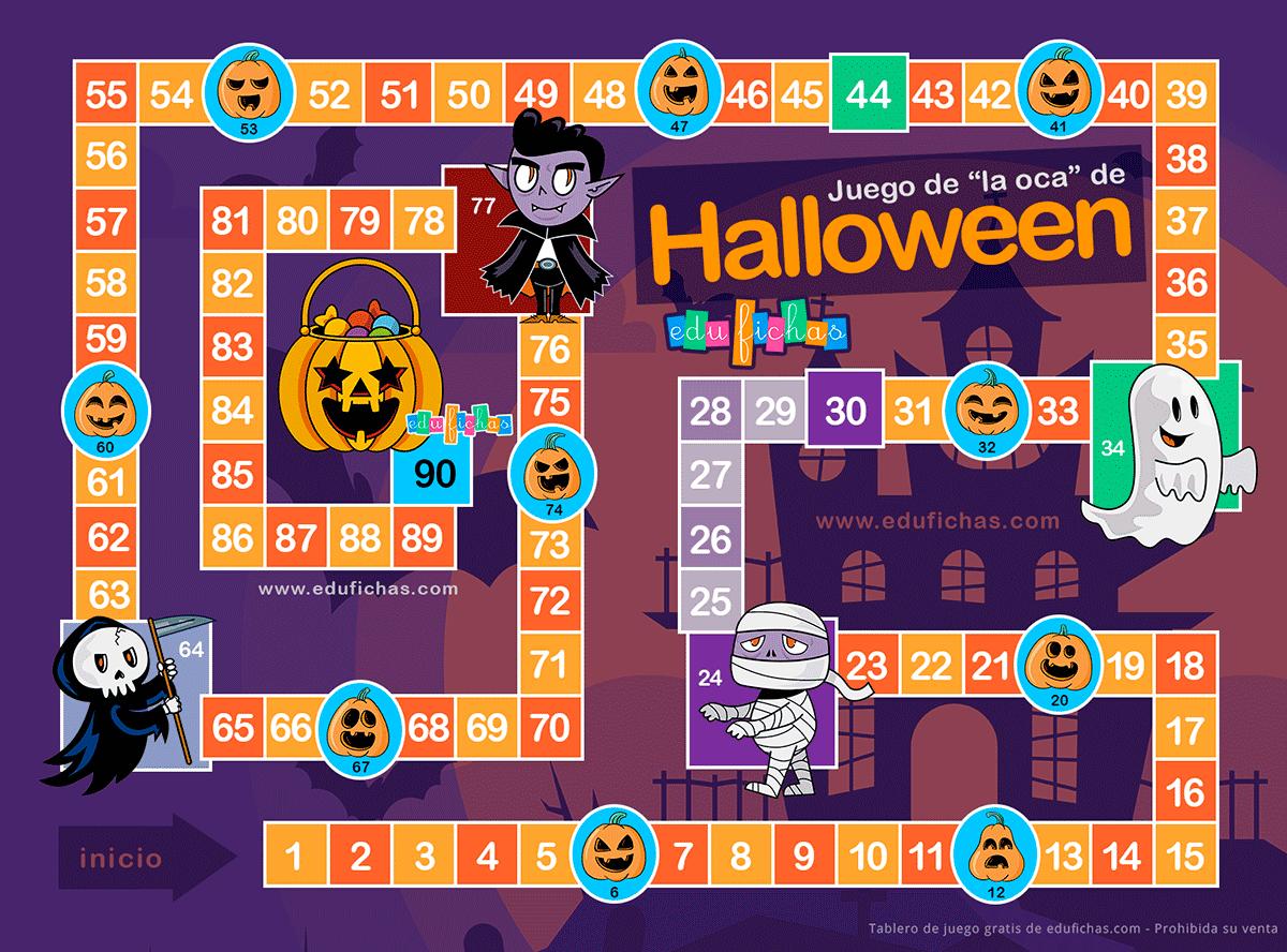 juego de la oca de halloween