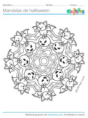 mandala de gatos kawaii
