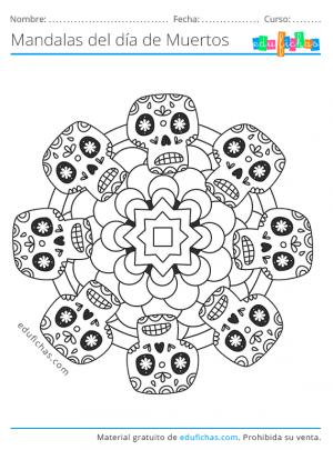 mandala mexicano del día de muertos