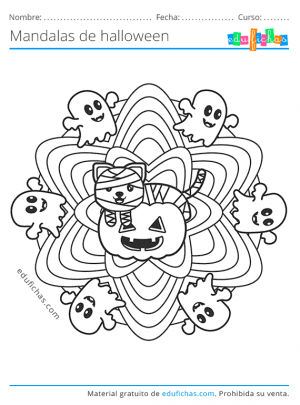 mandalas de halloween para niños