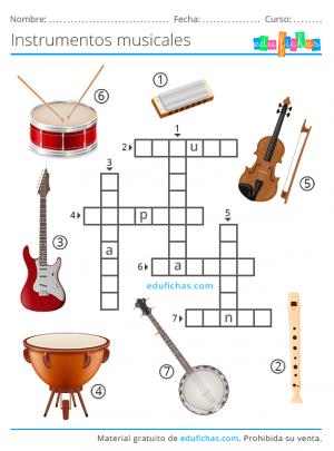 nombres de instrumentos para primaria