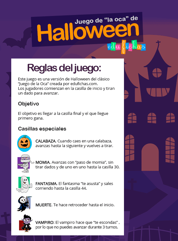 oca de halloween reglas