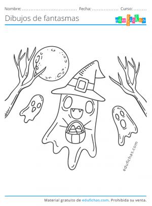pintar dibujos de fantasmas