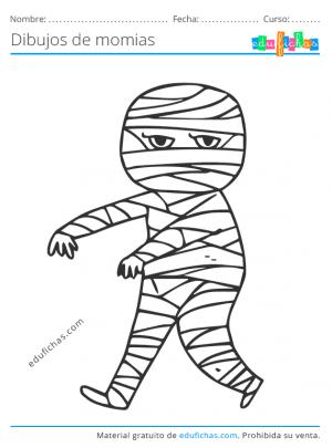 pintar momias para niños